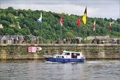 Boot am Deutschen Eck