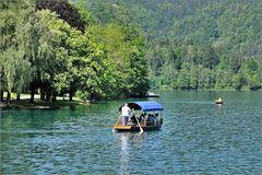 Boot auf dem Bleder See