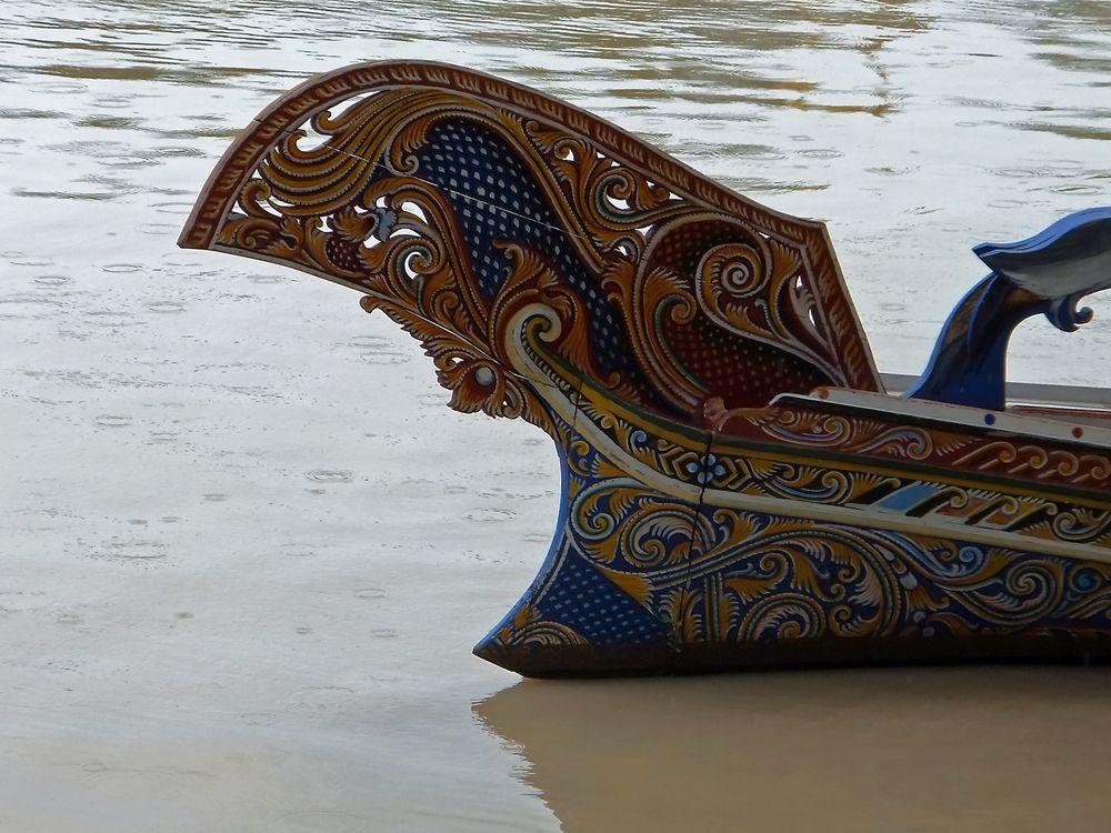 Boot auf dem Floating Market in Pattaya