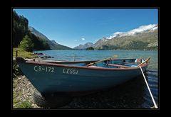 Boot auf dem Silsersee
