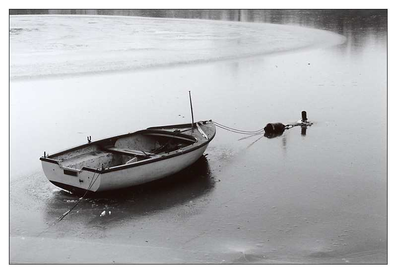 Boot im Winter