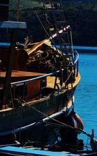Boot s Ansichten am Meer