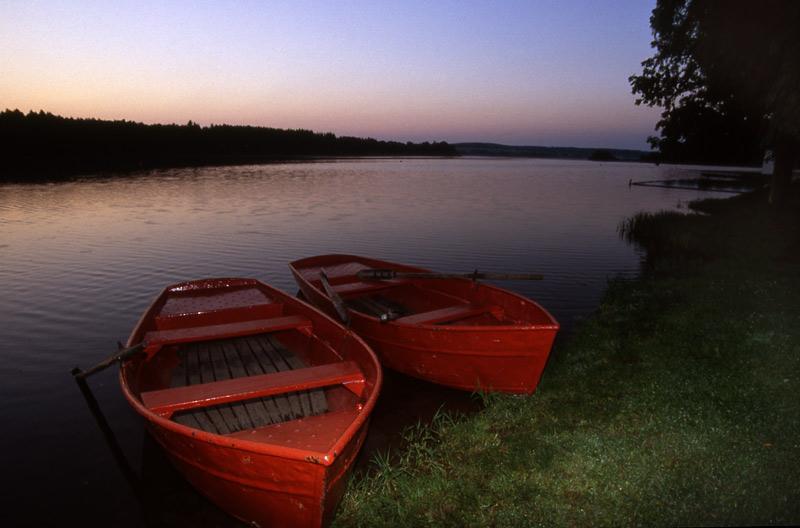 Boote am Dreifelder Weiher
