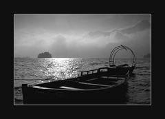 Boote auf dem Silser See
