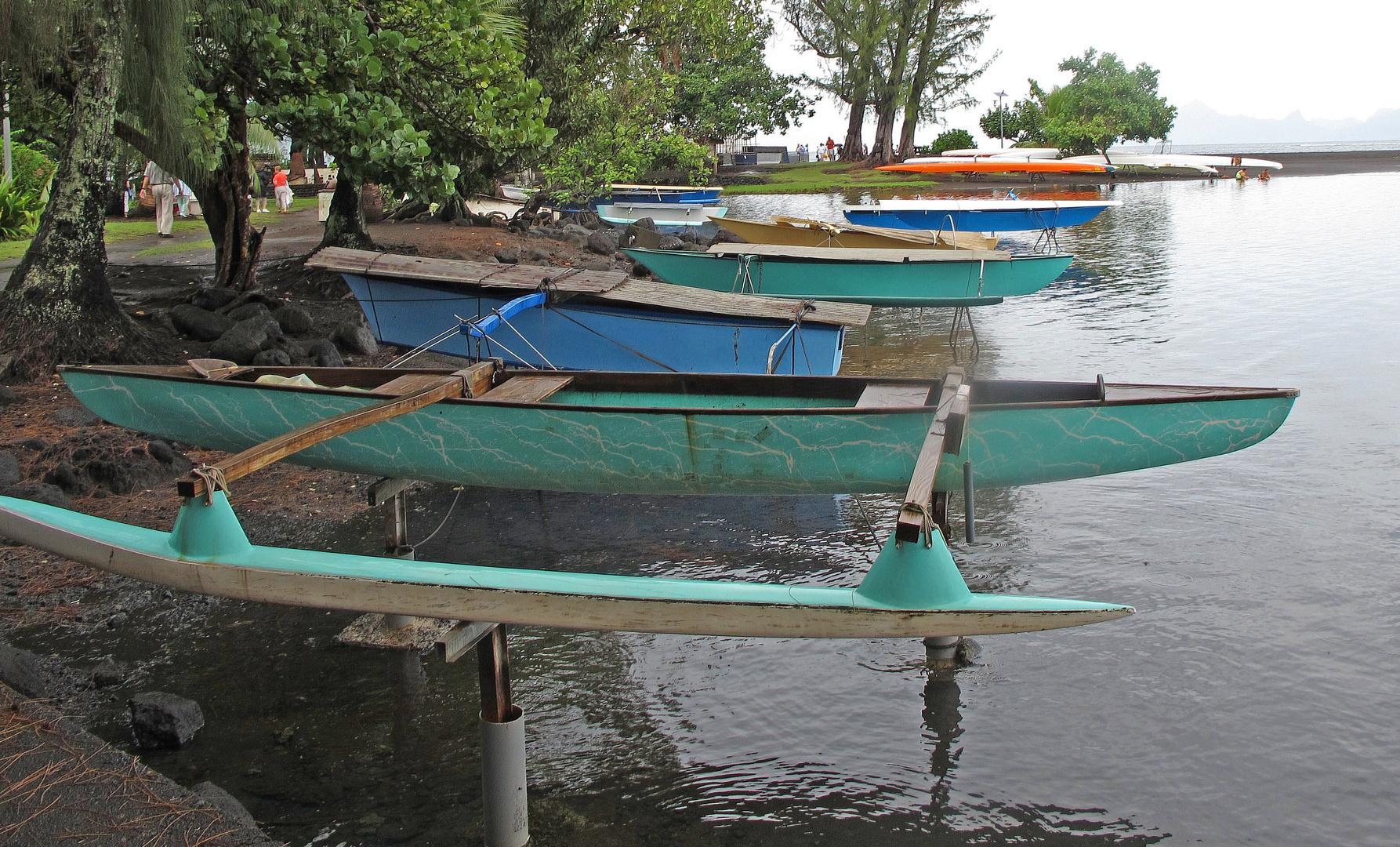 Boote auf Tahiti