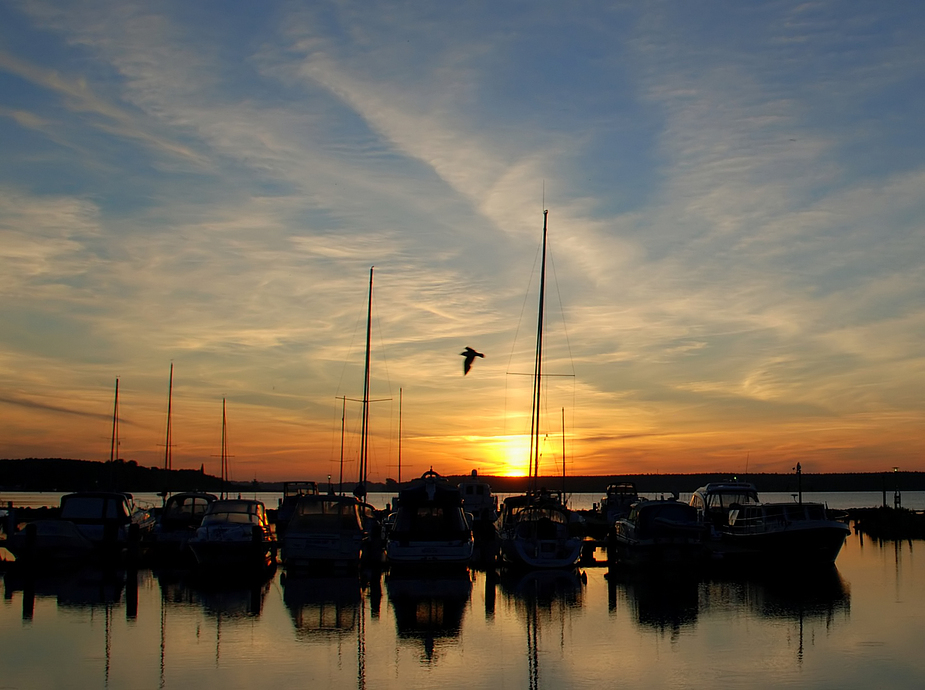 Boote im Gegenlicht  ( Sunrise behind boats)