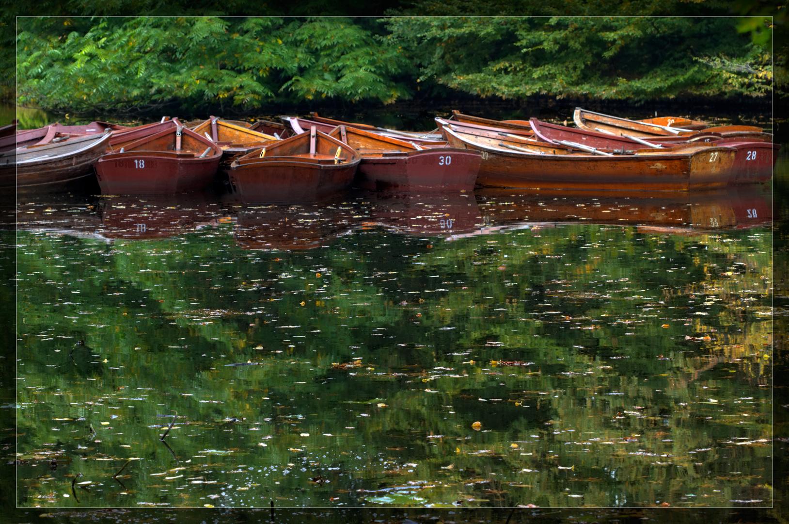 Boote im Park
