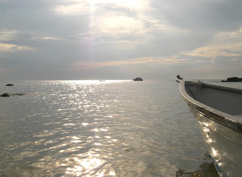 Boote in Abendstimmung _ Pulau Tioman