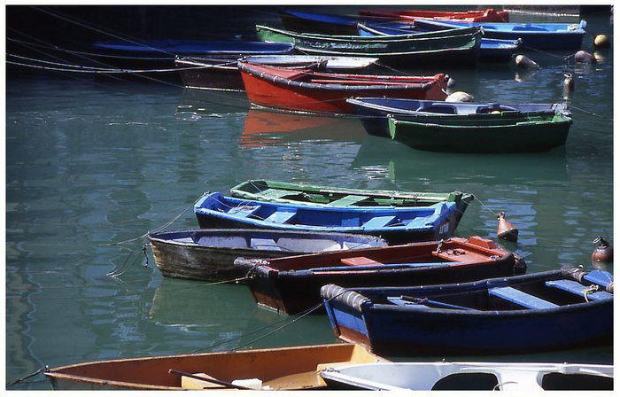 Boote in Bermeo