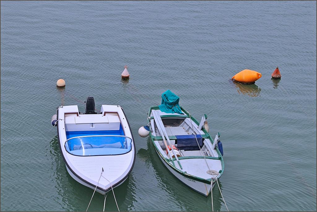 Boote in der Lagune