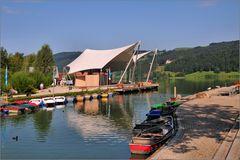Boote und Zelte am Alpsee