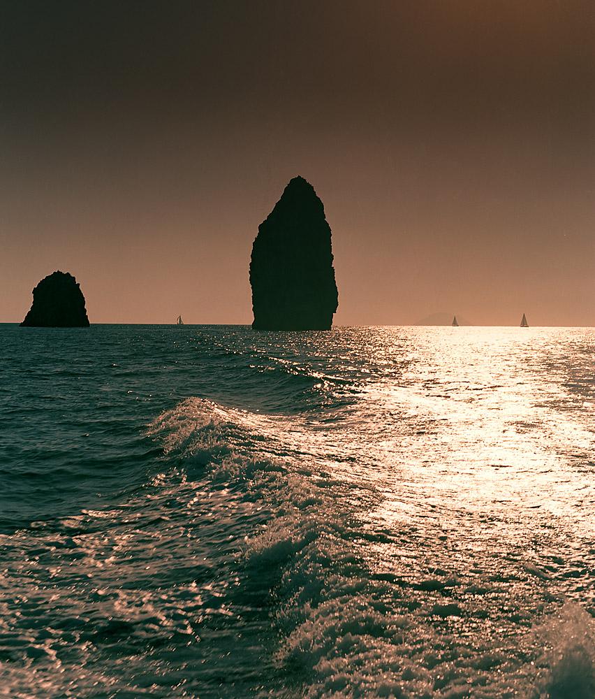 Bootsfahrt auf den Liparischen Inseln