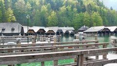 Bootshäuser am Königsee