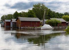 Bootshäuser am Plauer See