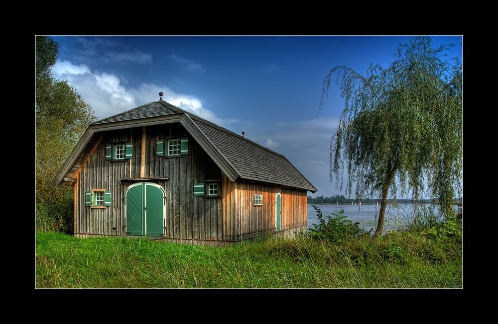 Bootshäuser an der Schafwaschnerbucht IV
