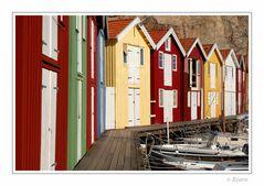Bootshäuser in Sögen