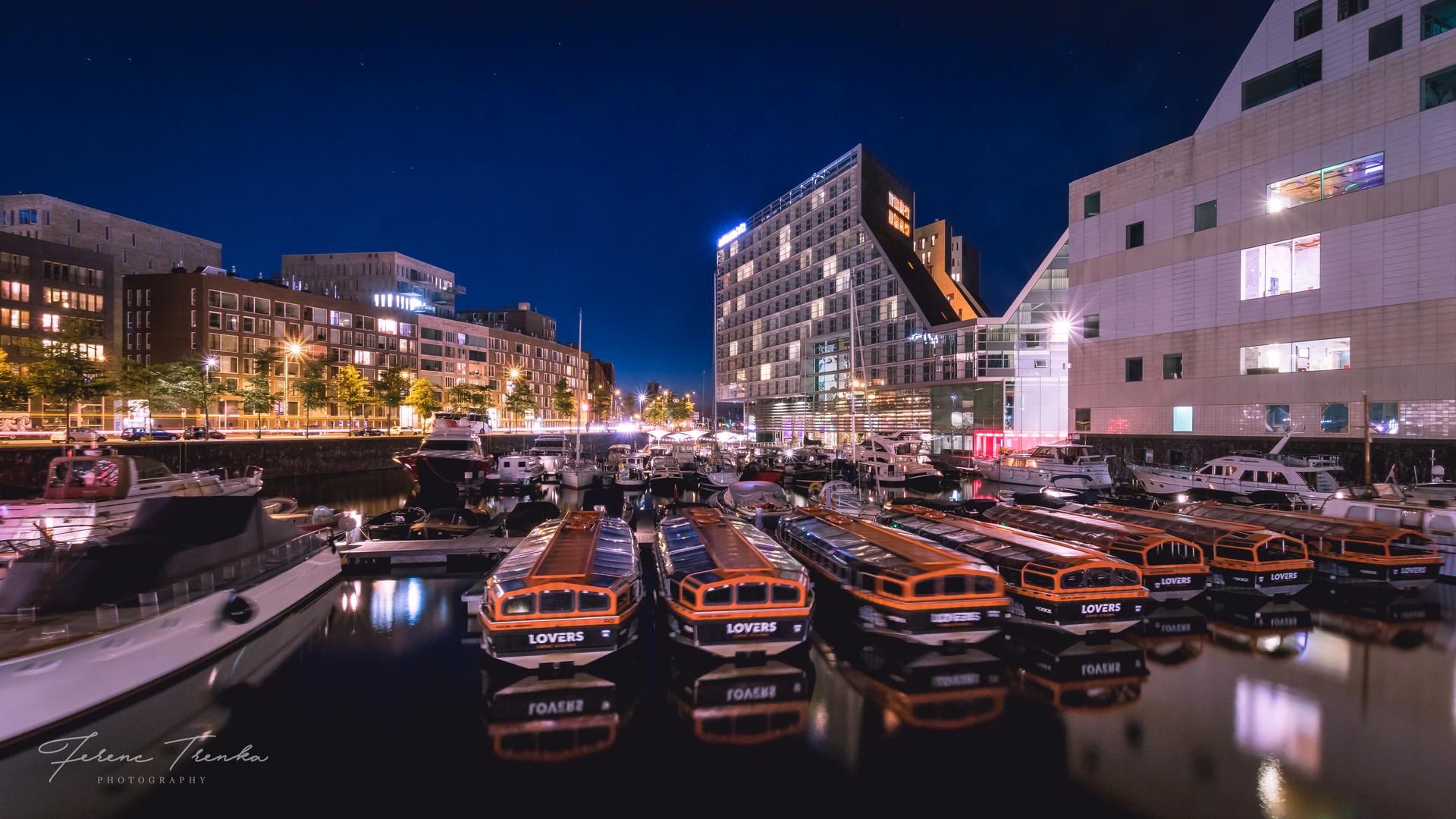 Bootshafen in Amsterdam