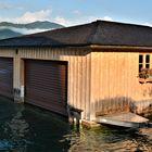 Bootshaus am Morgen