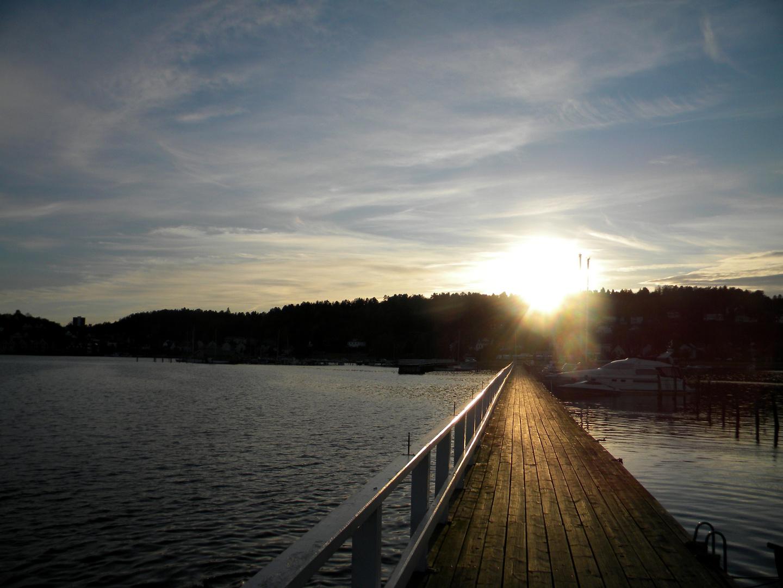 Bootssteg Sandefjord/Norwegen