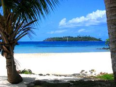 Bora Bora - Motu im Blick