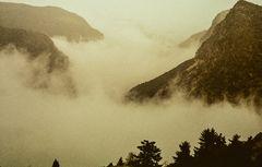 Boraikosschlucht im Nebel. Griechenland.           .DSC_6750