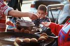Bored Kid at a Falafel Stand, Jerusalem, Israel, 2000