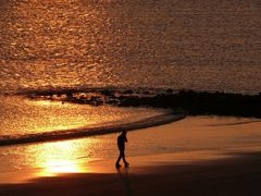 Borkum (1) - Strandspaziergang bei Sonnenuntergang
