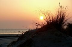 Borkum 2010 - Sonnenuntergang am Strand