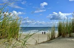 Borkum - Blick von der Düne auf den Strand