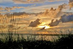 Borkum  -  Stimmungsvoller Sonnenuntergang