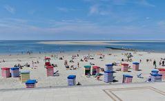 Borkum  -  Strandwetter wie man es sich nicht besser wünschen kann
