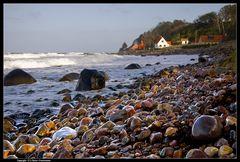 Bornholm, Hellig Peder, nasse Steine - Wet stones