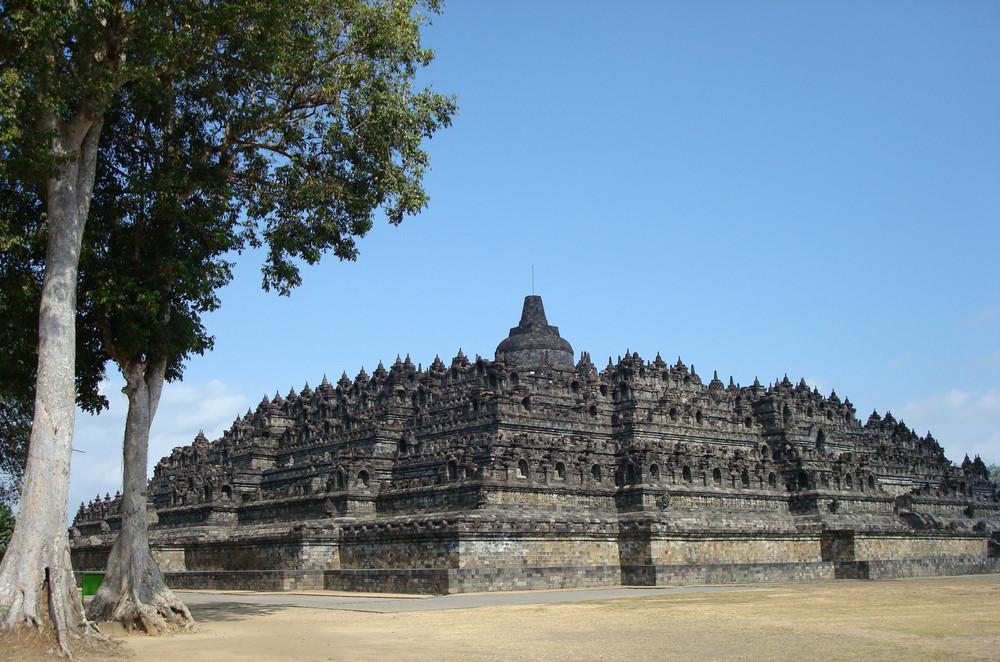 Borobodur Tempel in voller Pracht