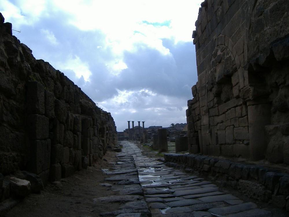 Bosra después de la lluvia