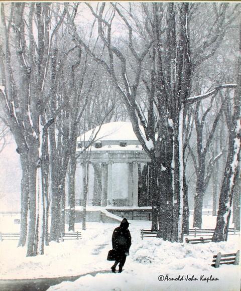 Boston Common In Snow Storm