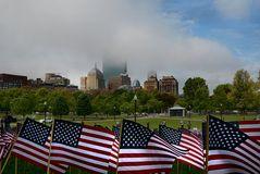 Boston Common Memorial Day Vorbereitung