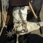 bota tradicional de cuero de potro