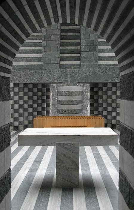 Botta Kirche in Mogno