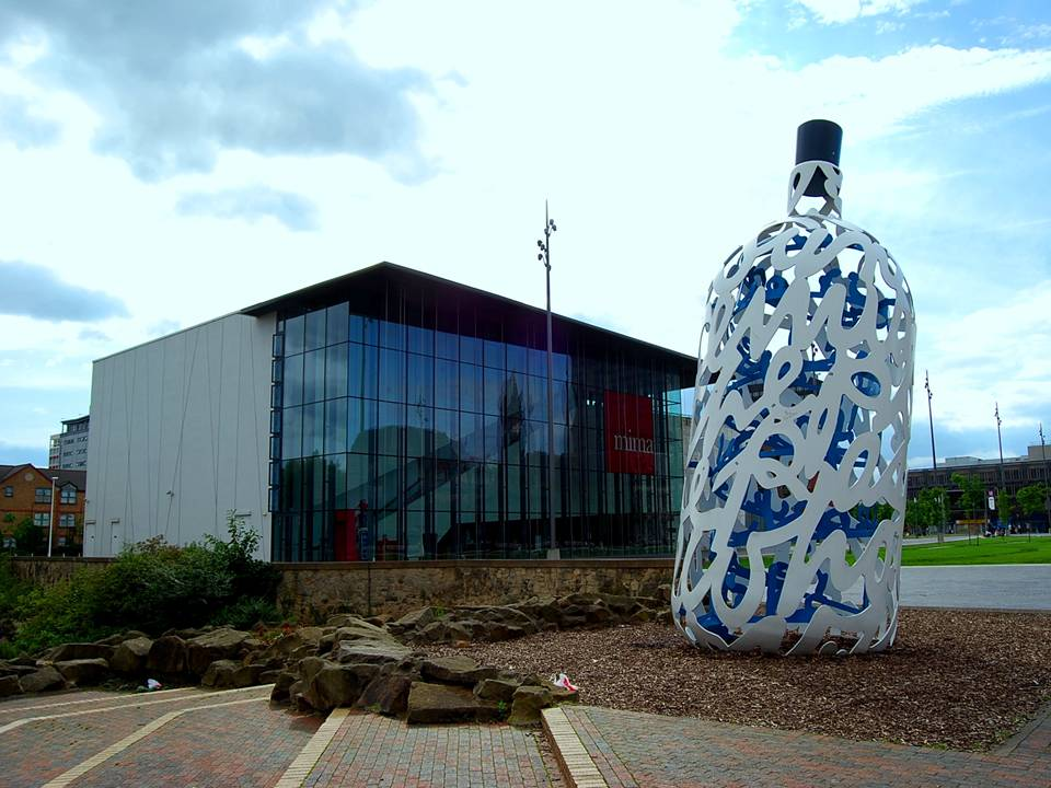 Bottle of Notes and Mima Art Gallery