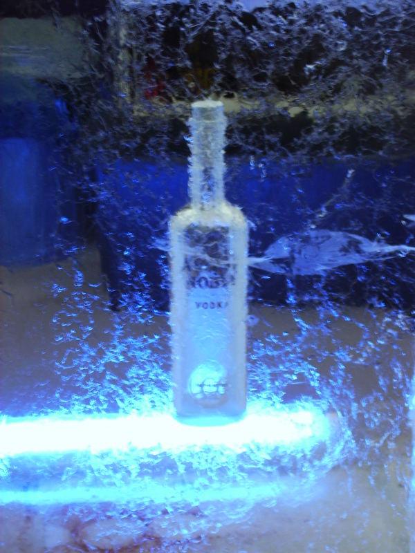 bottle on ( in ) the rocks