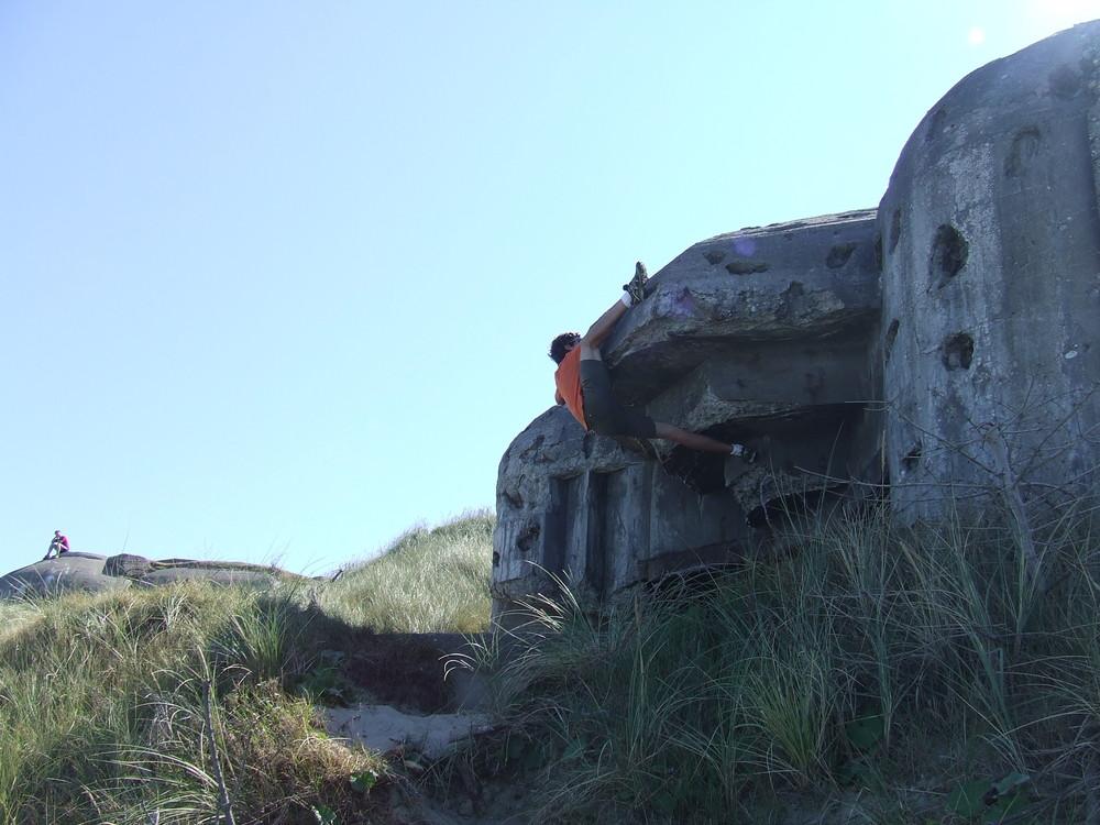 Bouldern am Bunker