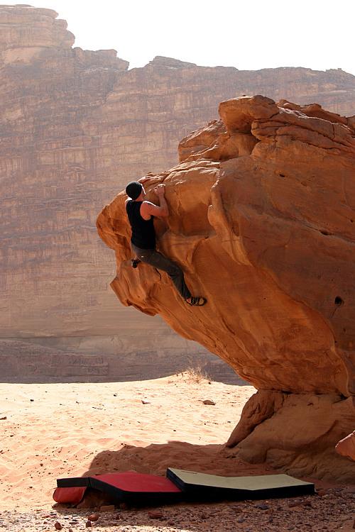 Bouldern in der Wüste