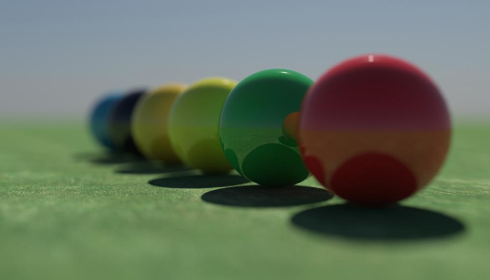 Boules colorées ...