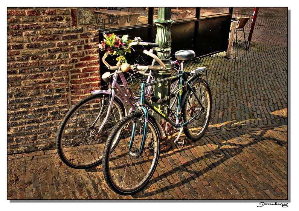 bouquet on bike