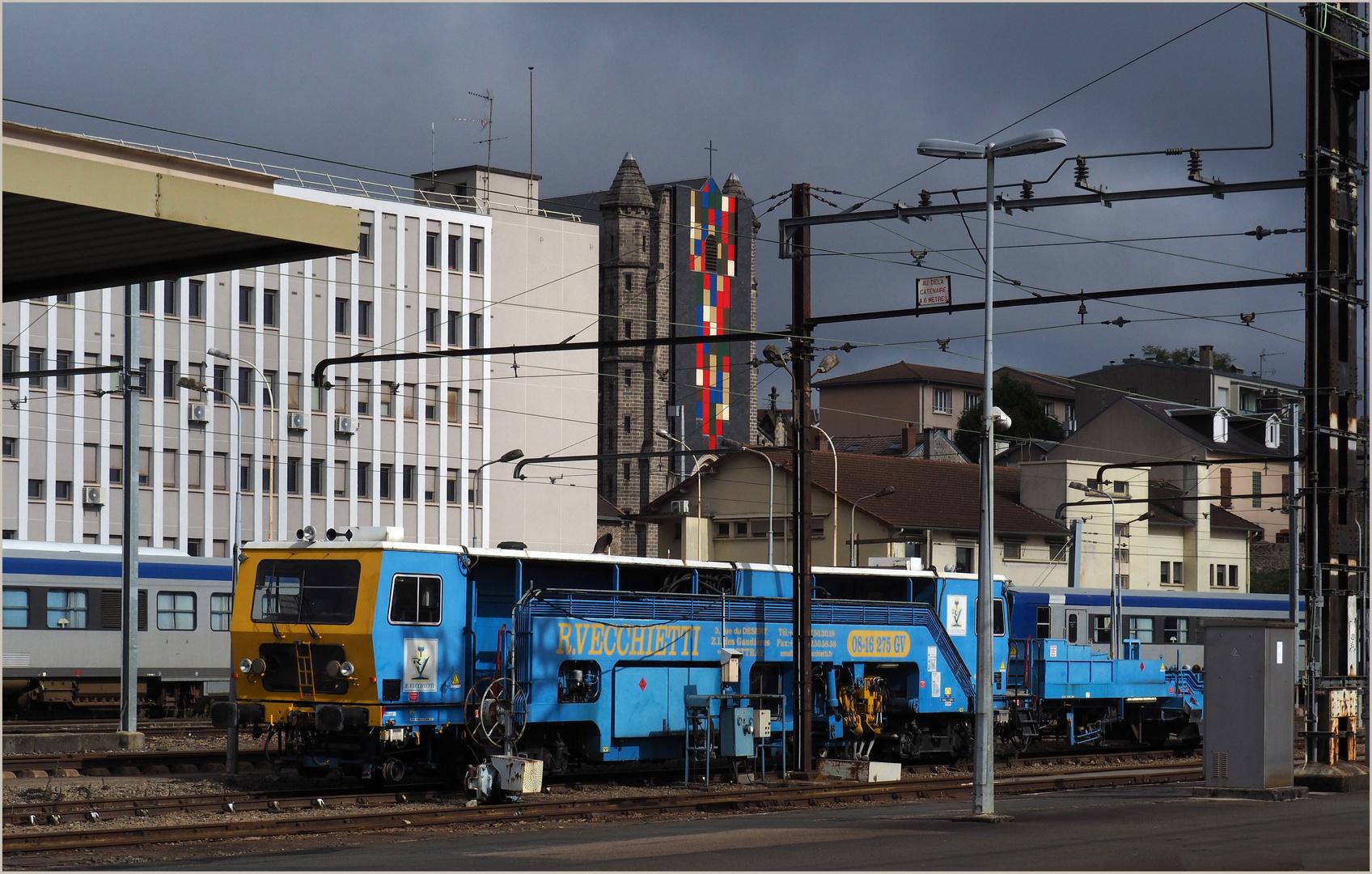 Bourreuse Vecchietti en gare de Limoges