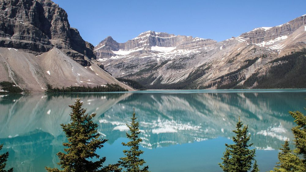 Bow Lake am Icefield Parkway/Reload