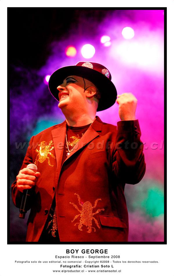 Boy George en Espacio Riesco - Septiembre 2008
