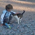 Boy & girl(cat)