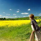 Boy marvelling at the landscape