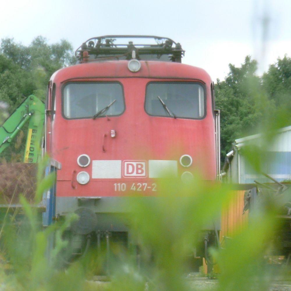 BR 110-427 erreicht ihren letzten Bahnhof.